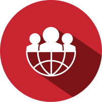 Red Network Binder Icon